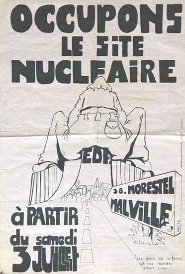 Malville: occupons de site nucleaire, 1976