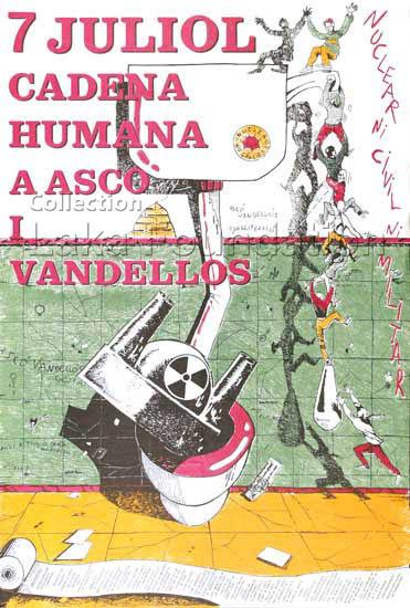 Cadena humana a Asco i Vandellos, 1990-2000