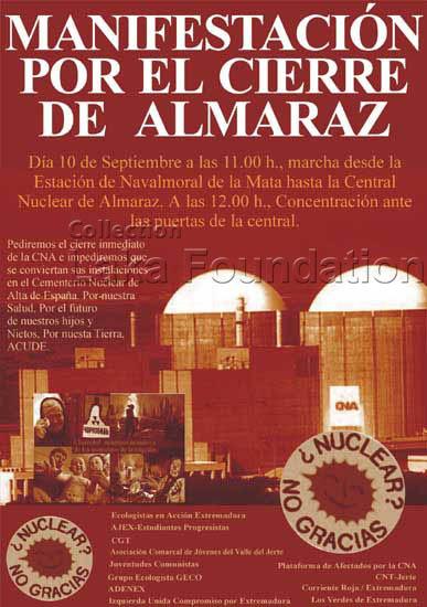 Manifestacion por el cierre de Almaraz, 2005
