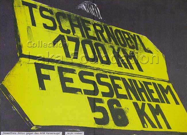 Tschernobyl 1700km, Fessenheim 56km, 1986