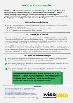 Factsheet Kernenergie en IPCC