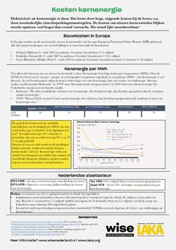 Factsheet Kosten van kernenergie