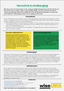 Factsheet Kernafval