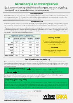 Factsheet Kernenergie & Watergebruik