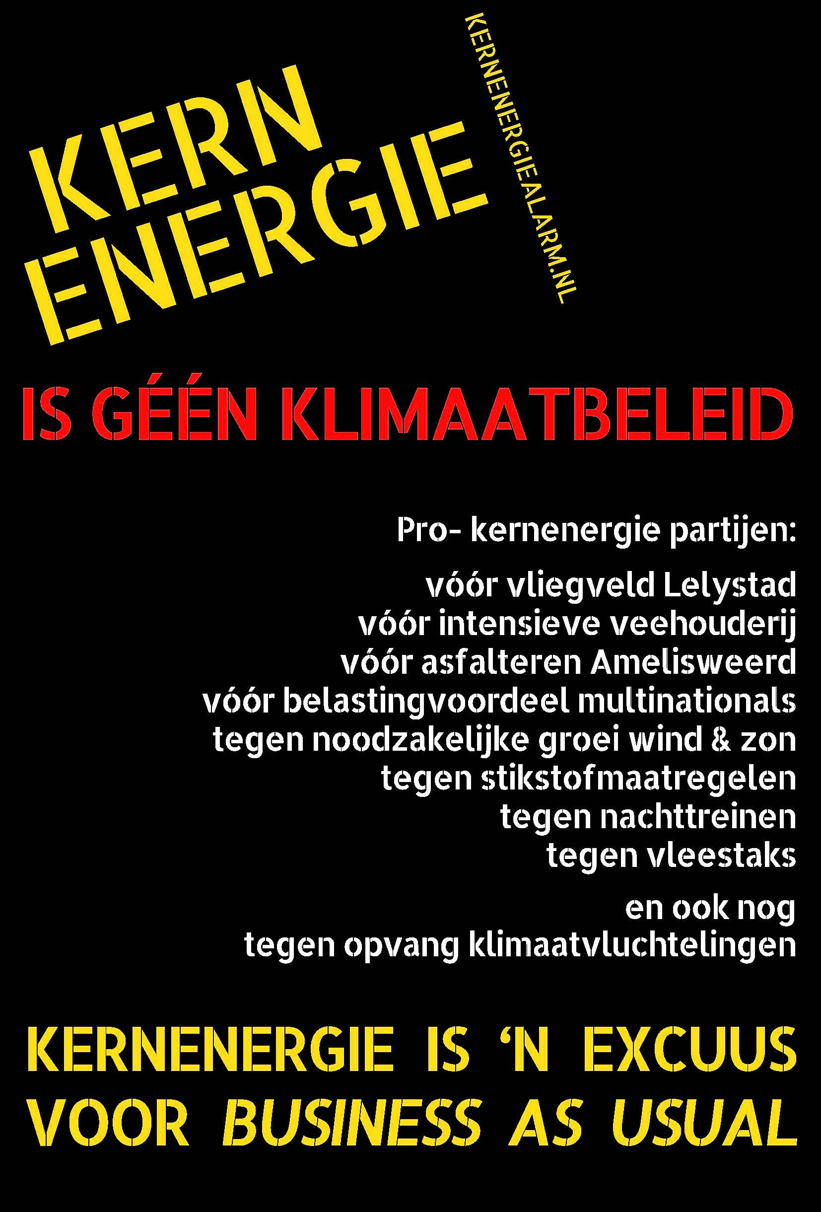 Kernenergie is geen klimaatbeleid